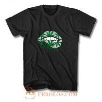 Weed Lips Cannabis T Shirt