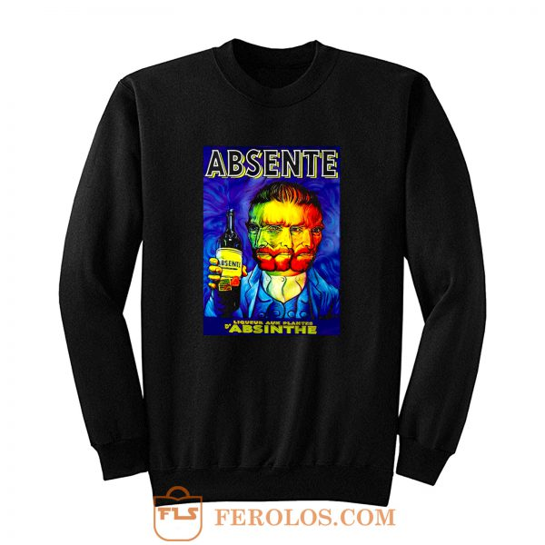 Absente Vintage Absinthe Liquor Advertisement with Van Gogh Sweatshirt