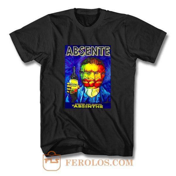 Absente Vintage Absinthe Liquor Advertisement with Van Gogh T Shirt