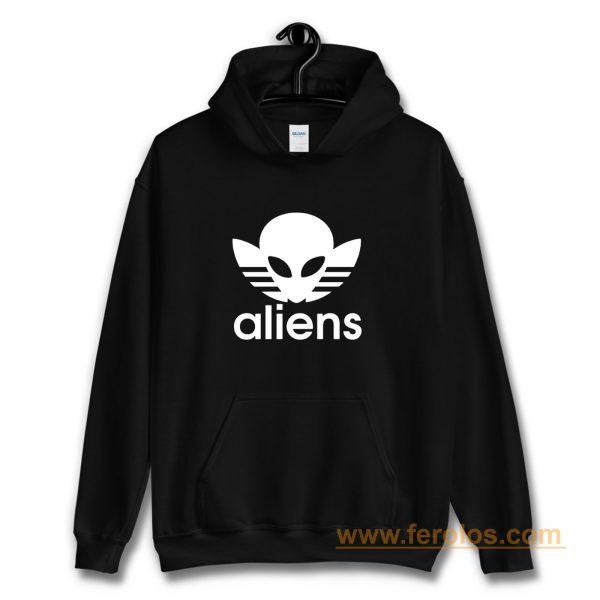 Aliens Logo Humorous Hoodie