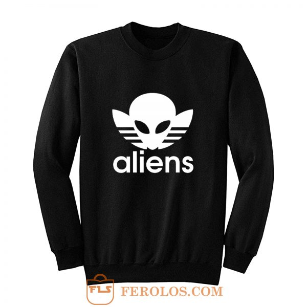 Aliens Logo Humorous Sweatshirt