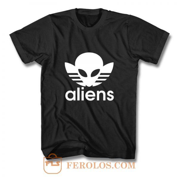 Aliens Logo Humorous T Shirt