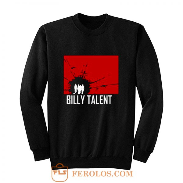 BILLY TALENT Red Square Punk Rock Band Sweatshirt
