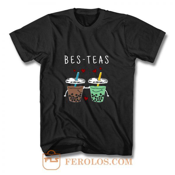 Bes Teas Best Friends Bubble Tea T Shirt