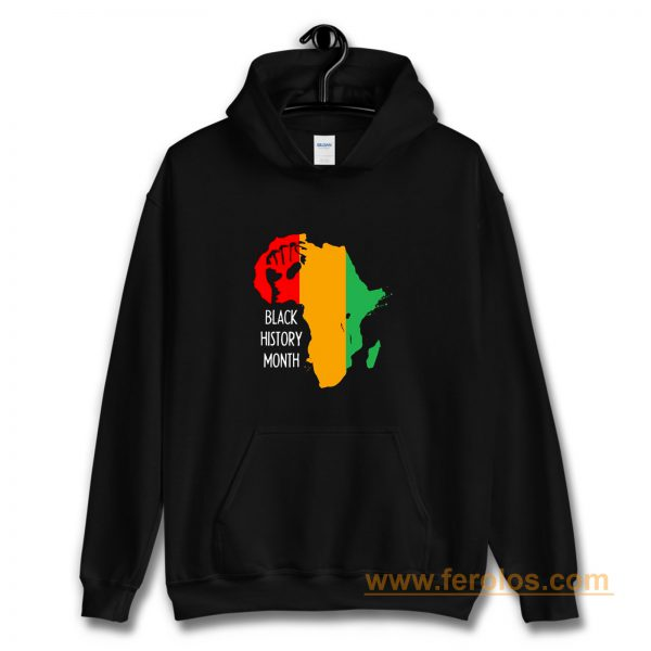 Black History Month Africa Origin Ancestral Power Ladies Hoodie
