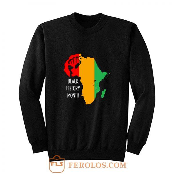 Black History Month Africa Origin Ancestral Power Ladies Sweatshirt