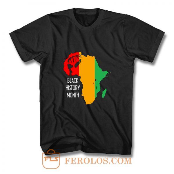 Black History Month Africa Origin Ancestral Power Ladies T Shirt