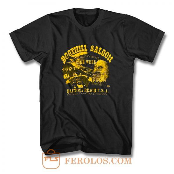 Boothill Saloon Biker Rally Single Stitch Pocket T Shirt
