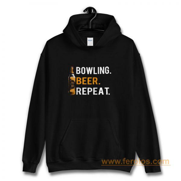Bowling Beer Repeat Novelty Bowling Apparel Novelty Bowling Apparel Hoodie