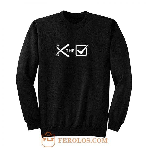 Cut the check Sweatshirt
