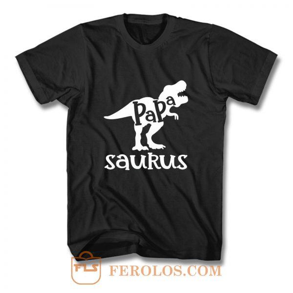Dads Papasaurus Dinosaur Birthday T Shirt