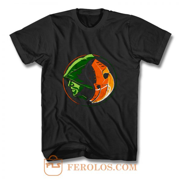 Deathstroke Arrow YinYang T Shirt