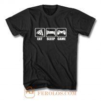 Eat Sleep Game Gaming Lovers Day T Shirt