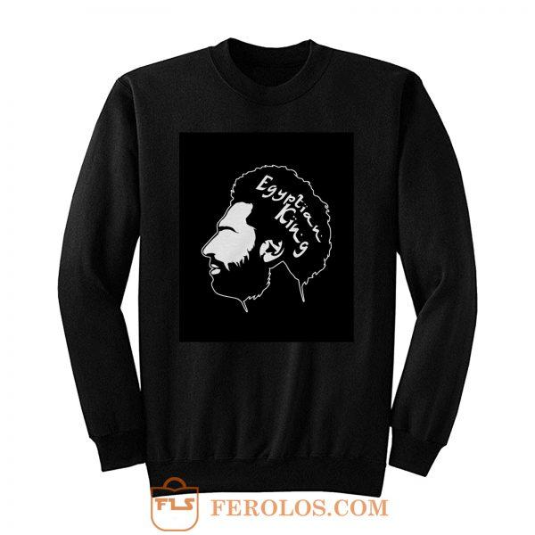 Egyptian King White Font Liverpool FC Custom Sweatshirt