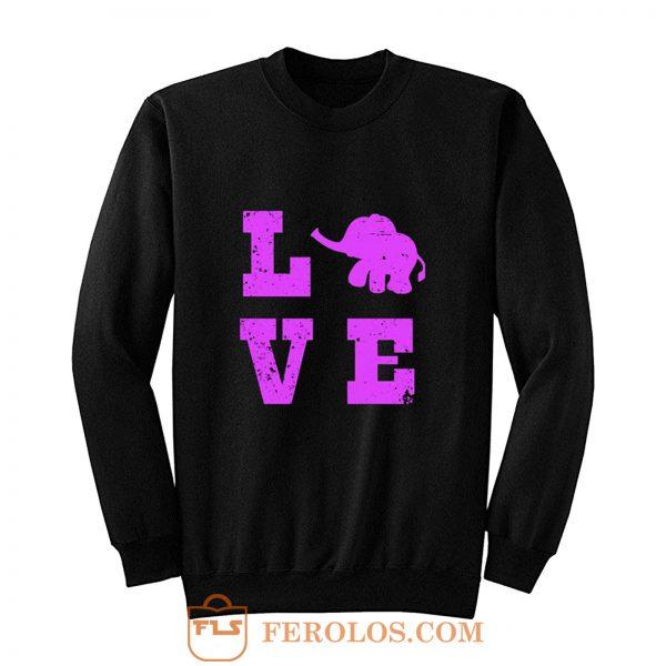 Elephants Love Elephant Lover Sweatshirt