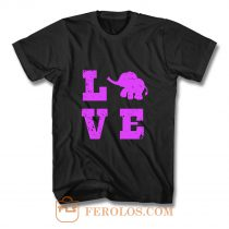 Elephants Love Elephant Lover T Shirt