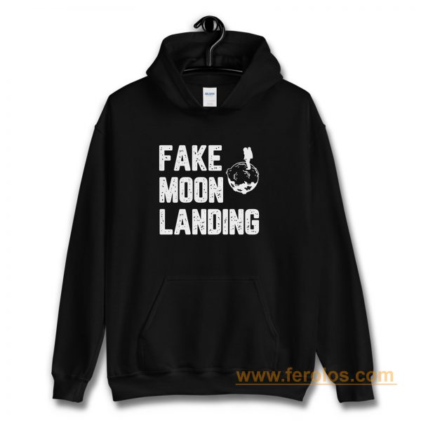 Fake News Landing Mission Conspiracy Theory Hoodie