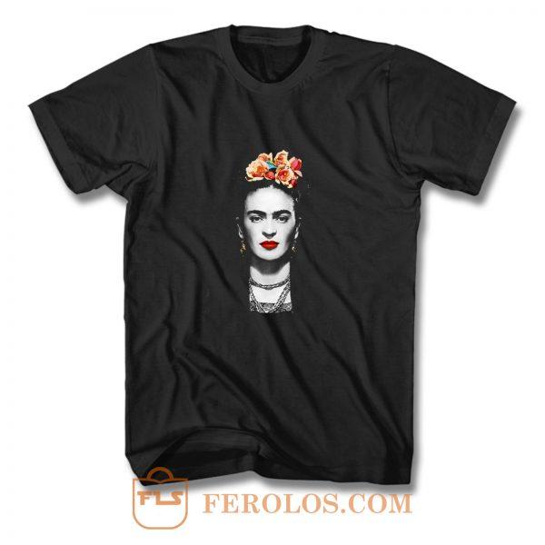 Frida Kahlo With Flowers Poster Artwork Long Sleeve T Shirt