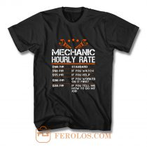 Funny Mechanic Hourly Rate T Shirt