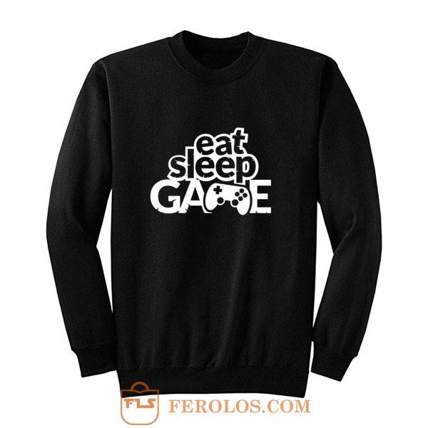 Gaming Hoody Boys Girls Kids Childs Eat Sleep Game Sweatshirt