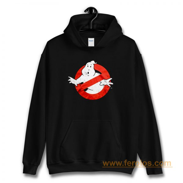 Ghostbusters Distressed Logo vintage maglia Uomo Ufficiale Hoodie
