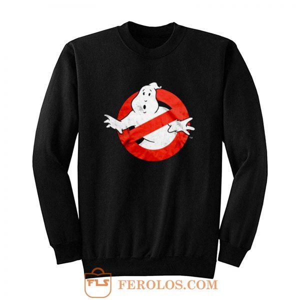 Ghostbusters Distressed Logo vintage maglia Uomo Ufficiale Sweatshirt