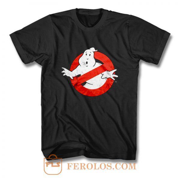 Ghostbusters Distressed Logo vintage maglia Uomo Ufficiale T Shirt