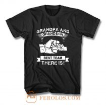 Grandpa and Grandson New Grandfather T Shirt