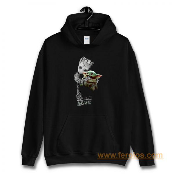 Groot Mashup Baby Yoda The Mandalorian The Child Hoodie