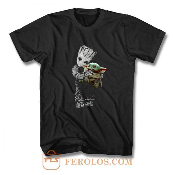 Groot Mashup Baby Yoda The Mandalorian The Child T Shirt