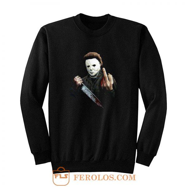 Halloween Middle Finger Sweatshirt