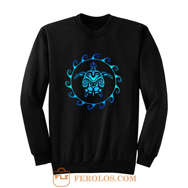 Hawaiian Tribal Maori Sun Sea Turtle Sweatshirt