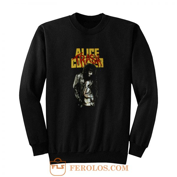 Heavy Cotton New ALICE COOPER TRASH Sweatshirt