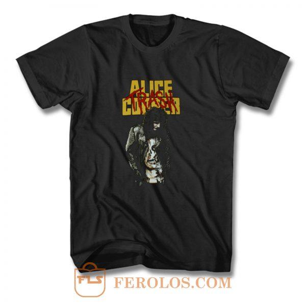 Heavy Cotton New ALICE COOPER TRASH T Shirt