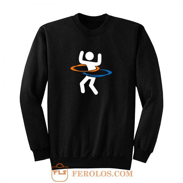 Hula Hooping With Portals Portal Sweatshirt