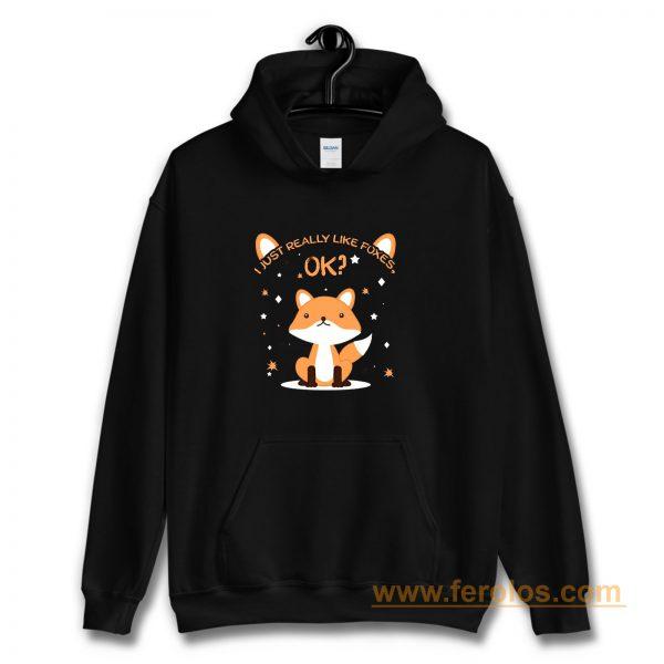 I Just Really Like Foxes Ok Hoodie