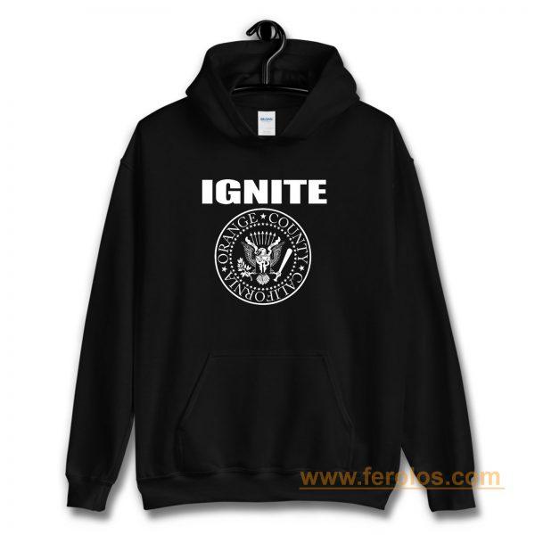 IGNITE PRESIDENT BLACK HARDCORE ORANGE COUNTY CALIFORNIA Hoodie