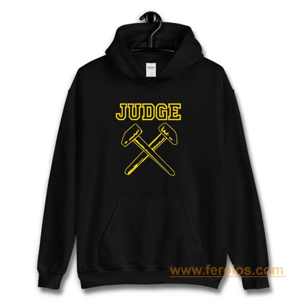 JUDGE HAMMERS BLACK HARDCORE NYC PUNK CROSSOVER THRASH Hoodie