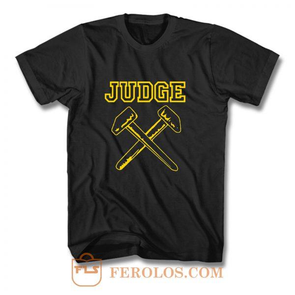 JUDGE HAMMERS BLACK HARDCORE NYC PUNK CROSSOVER THRASH T Shirt