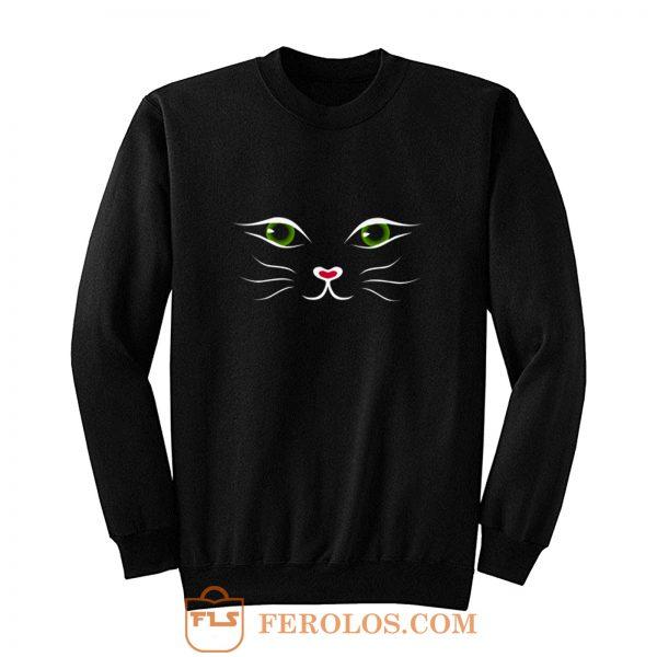 Kitty Face Cat Sweatshirt