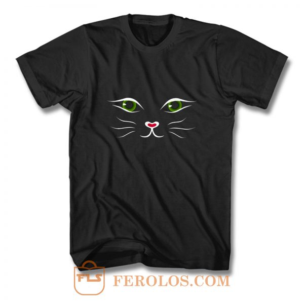 Kitty Face Cat T Shirt