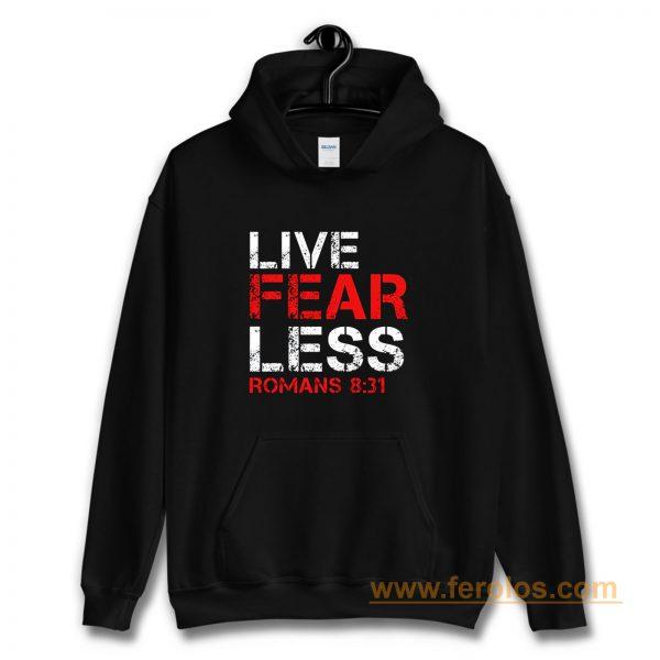 Live Fearless Christian Faith Hoodie