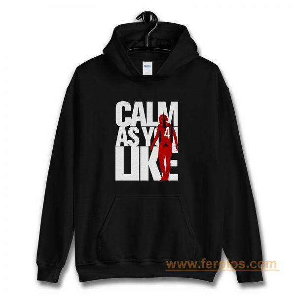 Liverpool FC Custom Calm As You Like White Red Hoodie