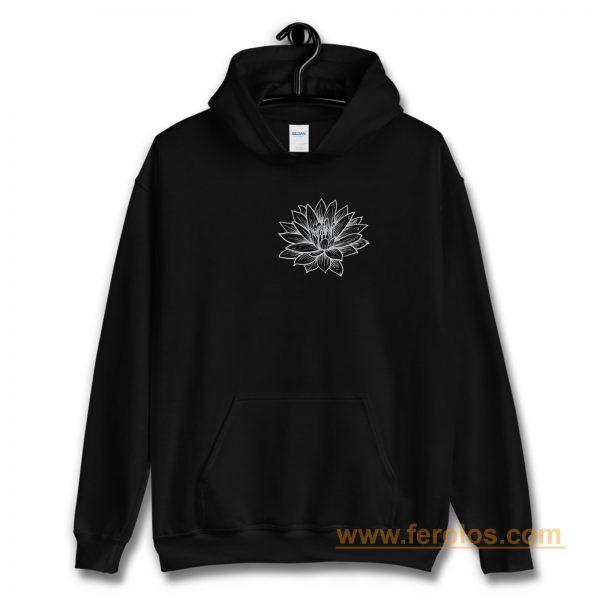 Lotus Flower Pocket Hoodie