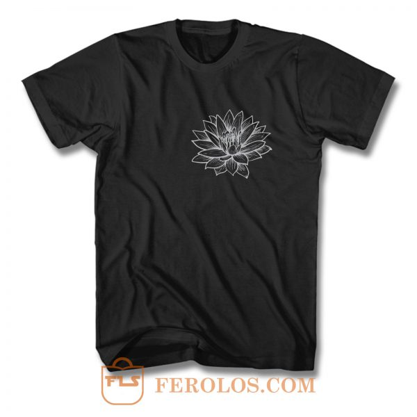 Lotus Flower Pocket T Shirt