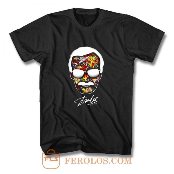 Marvel Head Stan Lee T Shirt