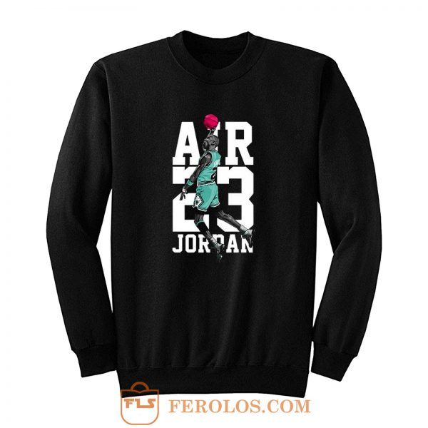 Michael Jordan Air Jordan 13 Aurora Green Match Sweatshirt