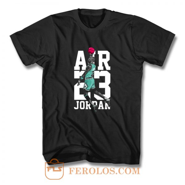 Michael Jordan Air Jordan 13 Aurora Green Match T Shirt