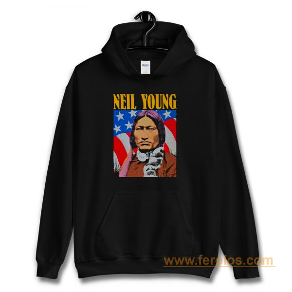 Neil Young Old Concert Tour Logo Music Legend Hoodie