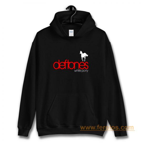 New Deftones White Pony Metal Band Legend Logo Mens Black Hoodie